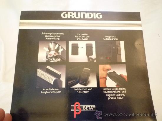 Antigüedades: MÁQUINA DE AFEITAR GRUNDIG BETA - Con Estuche y manual de instrucciones original - FUNCIONA - Foto 5 - 20712834