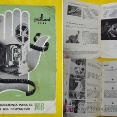 Antigüedades: INSTRUCCIONES PARA EL USO DEL PROYECTOR M8. PAILLARD BOLEX. Lote 20856914