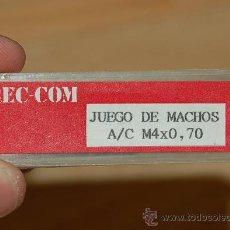 Antigüedades: MACHO - MACHOS DE ROSCAR - M4 - COMO NUEVOS - 4 MM - METRICO. Lote 27102572