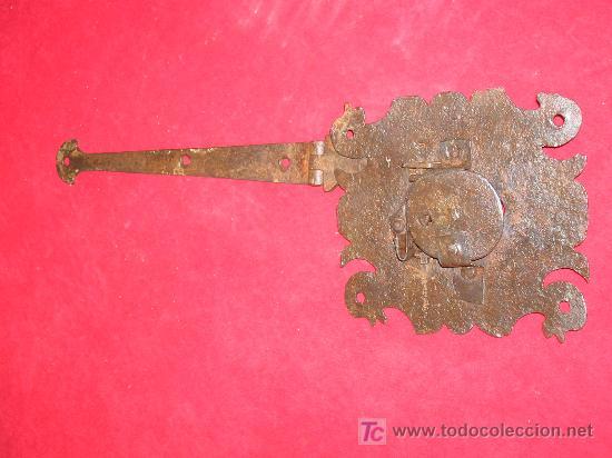 Antigüedades: CARRADURA MUY BONITA DE PATITOS DE HIERRO FORJADO FORJA - Foto 3 - 26645870