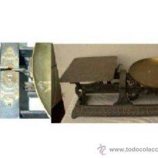 Antigüedades: BALANZA PLATO Y CHAPA .. BONITA Y RARA POR SUS CARACTERÍSTICAS Y FORMAS. Lote 21574210
