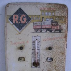 Antigüedades: BAROMETRO Y CALENDARIO BELGA CON PUBLICIDAD DE TRANSPORTE G.ROSSEAU , MASSENHOVEN, 1961. Lote 21675014