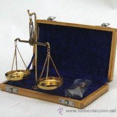 Antiquitäten - Balanza náutica de precisión. En su estuche de madera original - 127116963