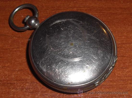 Antigüedades: Pequeña brújula argentina de bronce plateado - Foto 2 - 22092351
