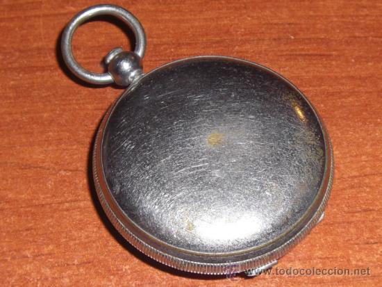 Antigüedades: Pequeña brújula argentina de bronce plateado - Foto 3 - 22092351