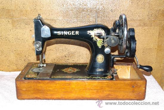 Antigua maquina de coser singer manual - Vendido en Venta