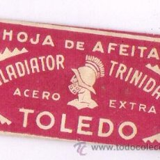 Antigüedades: HOJA DE AFEITAR ** TOLEDO ** CON SU HOJA DE AFEITAR. Lote 22288744
