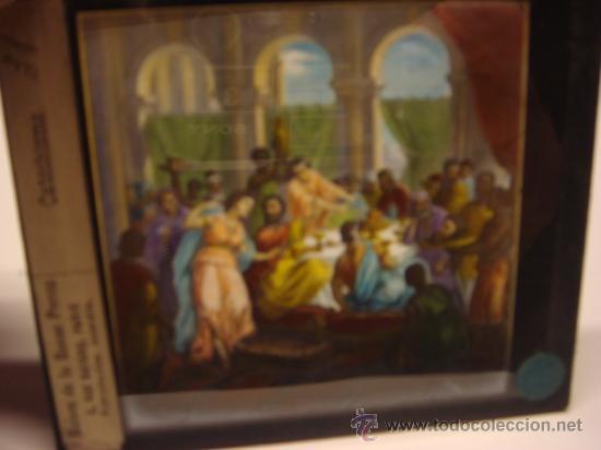 Antigüedades: CONJUNTO DE 46 PLACAS ANTIGUAS DE CRISTAL PARA LINTERNA MAGICA-COLECCION CATECISMO CATOLICO - Foto 9 - 26154879