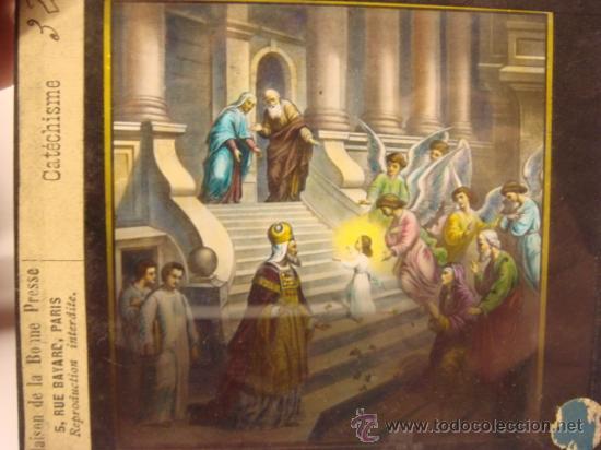 Antigüedades: CONJUNTO DE 46 PLACAS ANTIGUAS DE CRISTAL PARA LINTERNA MAGICA-COLECCION CATECISMO CATOLICO - Foto 4 - 26154879