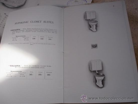 Antigüedades: CATALOGO DE MATERIAL SANITARIO INGLES APROX 1920 - LAVABOS BIDETS URINARIOS WC ETC CORREO 2.8€ - Foto 3 - 22498363