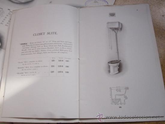 Antigüedades: CATALOGO DE MATERIAL SANITARIO INGLES APROX 1920 - LAVABOS BIDETS URINARIOS WC ETC CORREO 2.8€ - Foto 4 - 22498363