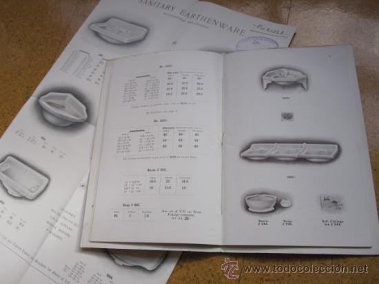 Antigüedades: CATALOGO DE MATERIAL SANITARIO INGLES APROX 1920 - LAVABOS BIDETS URINARIOS WC ETC CORREO 2.8€ - Foto 5 - 22498363