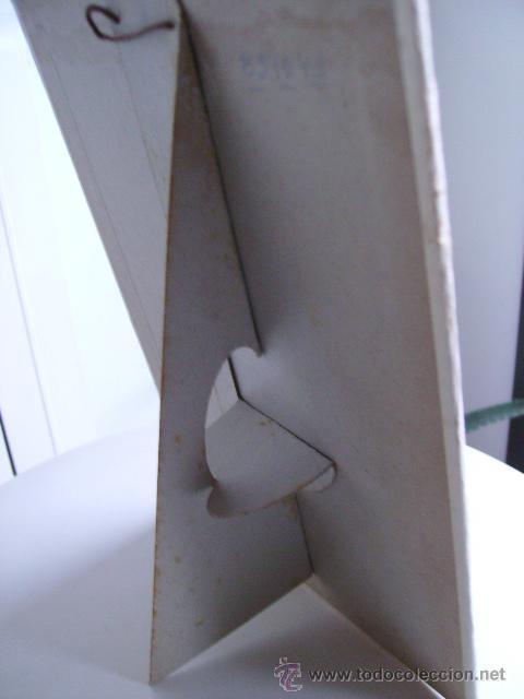 Antigüedades: dis-play cartel de sobre mesa publicidad hojas de afeitar -marca orplid -razor blade - Foto 3 - 22494761