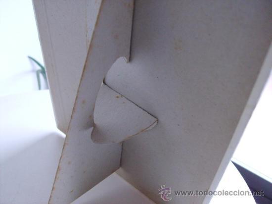 Antigüedades: dis-play cartel de sobre mesa publicidad hojas de afeitar -marca orplid -razor blade - Foto 2 - 22494761