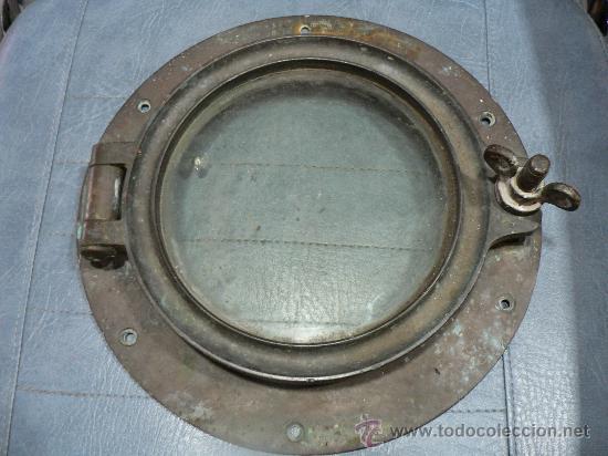 Antiguo ojo de buey de bronce y cristal barco comprar - Antiguedades de barcos ...