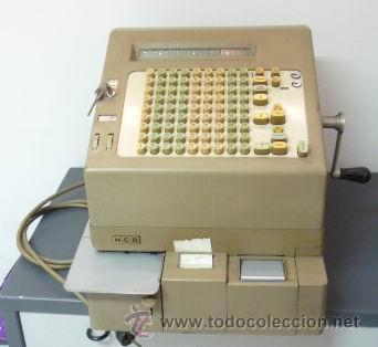 COLECCIÓN NATIONAL-NCR-TERMINAL FINANCIERO MODELO 41- CAJA REGISTRADORA HASTA FEB- 1969 EN PATERNA (Antigüedades - Técnicas - Aparatos de Cálculo - Cajas Registradoras Antiguas)