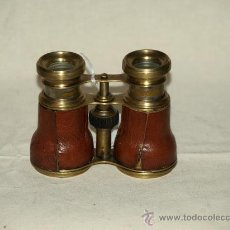 Antigüedades: PRISMÁTICOS (1920) PIEL Y METAL.. Lote 22720639