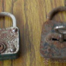 Antigüedades: PAREJA DE CANDADOS .. DE HIERRO. Lote 22744743