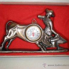 Antigüedades: TERMOMETRO TORERO ESTAÑO. Lote 22769321