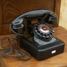 Teléfonos: TELEFONO DE BAQUELITA Y HIERRO MARCA MIX & GENEST AÑO 1936 , ANTIGUO, FUNCIONA ,,,TEL365. Lote 41736227