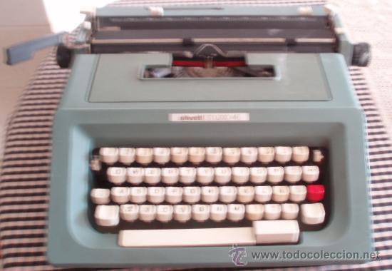 MAQUINA ESCRIBIR HISPANO OLIVETTI STUDIO 46 (Antigüedades - Técnicas - Máquinas de Escribir Antiguas - Olivetti)