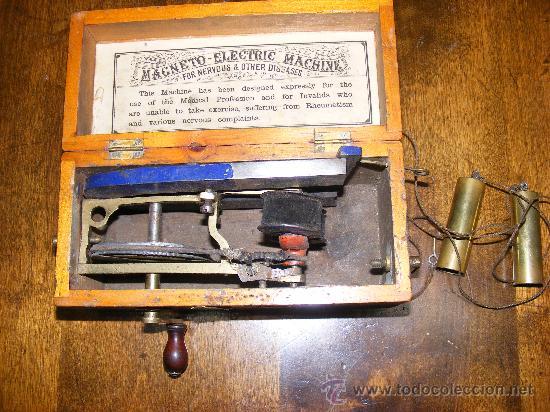 MÁQUINA MAGNETO ELECTRIC (Antigüedades - Técnicas - Instrumentos Ópticos - Microscopios Antiguos)