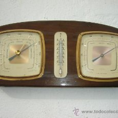 Antigüedades: BAROMETRO CON TERMOMETRO ANTIGUO. Lote 23343197
