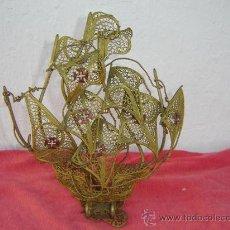 Antigüedades: BARCO HECHO EN METAL. Lote 23344983