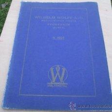 Antigüedades: WILHELM WOLFF - FABRICA ORFEBRERIA DOMESTICA EN METAL Y PLATA - CATALOGO 1927 + INFO. Lote 24659535