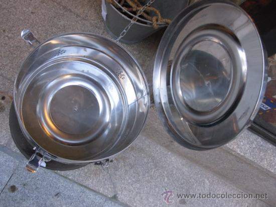 Antigüedades: TAMBOR CLINICO DE AUTOCLAVE EN METAL CROMADO SIN USO PREVIO - TAPADERA CON ASA - Foto 2 - 27473295