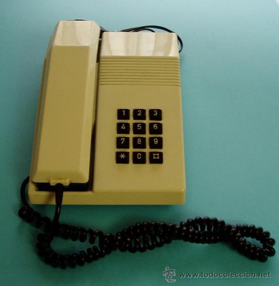 TELÉFONO MODELO TEIDE. HOMOLOGACIÓN DE 1987. SELECTOR DE VOLUMEN DEL TIMBRE TIPO RUEDA-ENGRANAJE (Antigüedades - Técnicas - Teléfonos Antiguos)