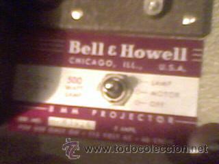 Antigüedades: maquina de cine ANTIGUA 8 mm marca BELL & HOWELL CHICAGO USA PROYECTOR ANTIGUO - Foto 7 - 26916015