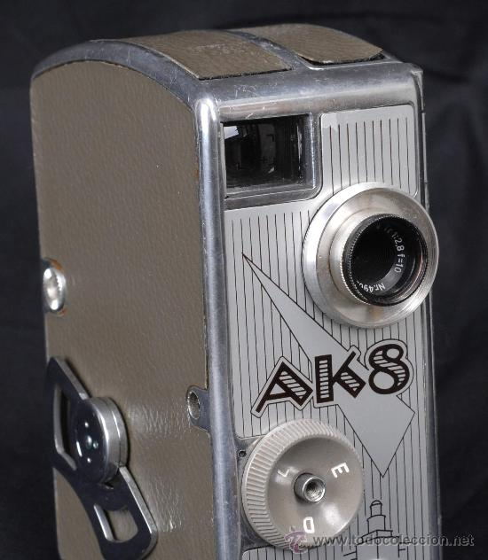 AK8 (Antigüedades - Técnicas - Aparatos de Cine Antiguo - Cámaras de Super 8 mm Antiguas)