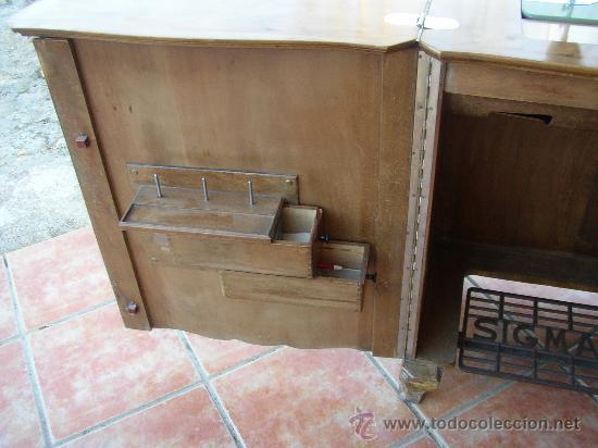 Antigüedades: MÁQUINA DE COSER SIGMA EN SU MUEBLE ORIGINAL MUY BONITO. AÑOS 50 - Foto 4 - 27458571