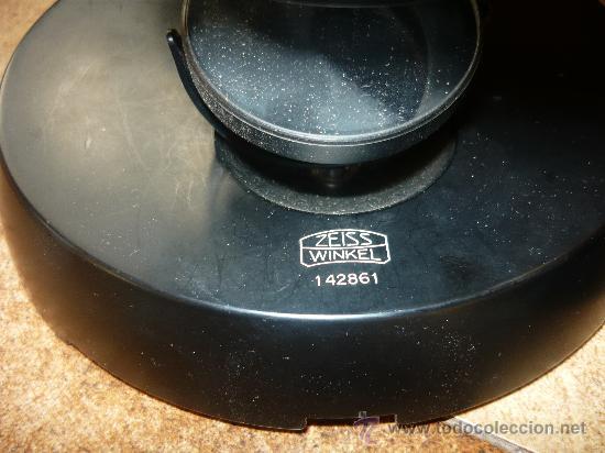 Antigüedades: ESPECTACULAR MICROSCOPIO ZEISS WINKEL 142861 ELECTRICO FUNCIONA PERFECTO Y CON TODOS SUS ACCESORIOS - Foto 3 - 26657550