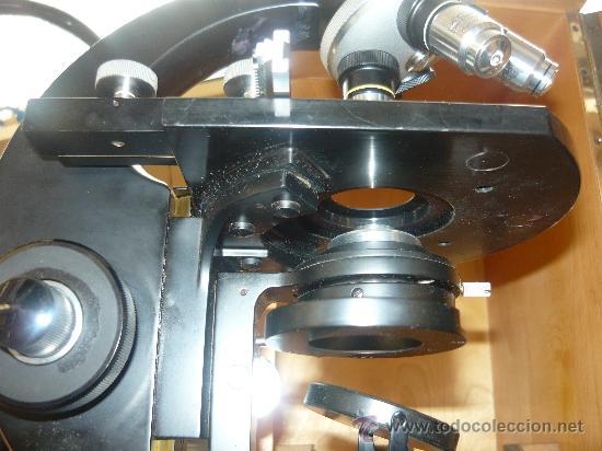 Antigüedades: ESPECTACULAR MICROSCOPIO ZEISS WINKEL 142861 ELECTRICO FUNCIONA PERFECTO Y CON TODOS SUS ACCESORIOS - Foto 8 - 26657550