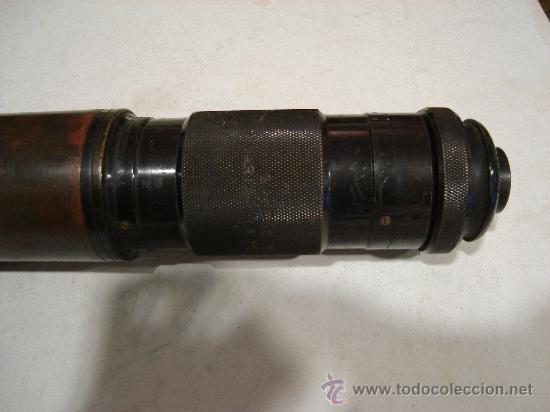 Antigüedades: ANTEOJO DE TEODOLITO. N9 59160 ROSS, LONDON PATENT. 67 CM DE LARGO POR 6 DE DIAMETRO. 4 KG APROX. - Foto 4 - 26799064