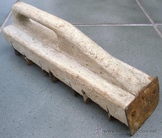 Antigüedades: herramienta de escayolista / para trabajar escayola o yeso (25x6cm aprox) - Foto 2 - 24598349