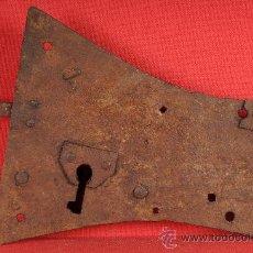 Antigüedades: CERRADURA DE HIERRO FORJADO, S.XVIII. Lote 24606467