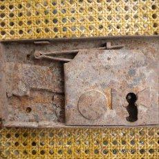 Antigüedades: CERRADURA SIN LLAVE 24X12. Lote 26520502