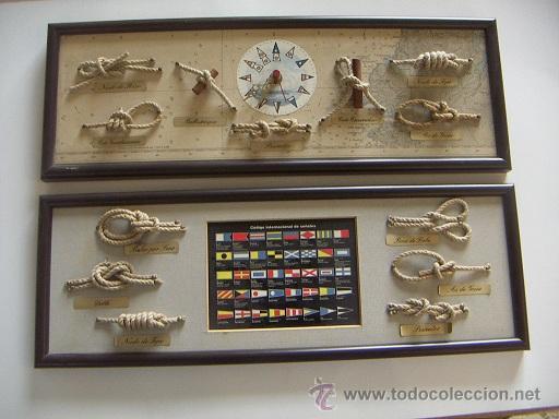 PAREJA DE MARCOS CON NUDOS (Antigüedades - Antigüedades Técnicas - Marinas y Navales)