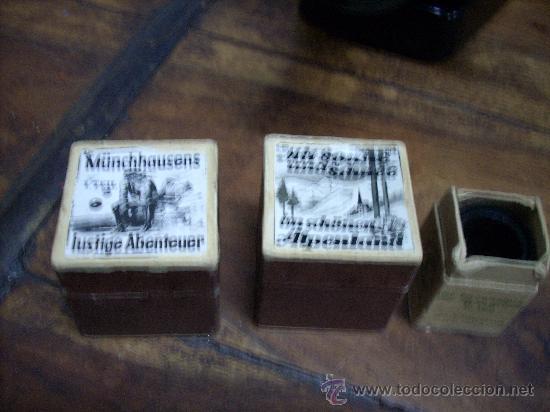 Antigüedades: ORIGINAL LINTERNA MAGICA DE BAQUELITA, AÑOS 30-40, CON 2 PELICULAS - Foto 8 - 24745913