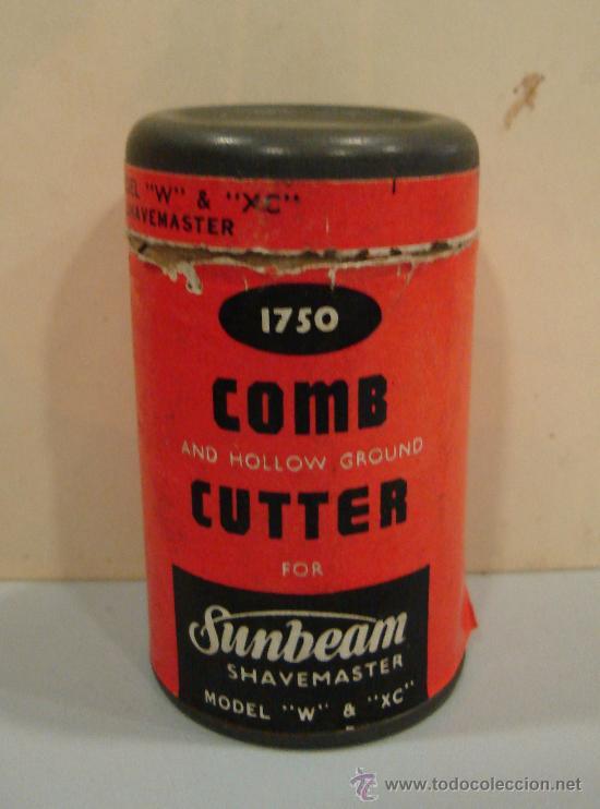 COMB AND HOLLW GROUND CUTTER FOR SUNBEAM. SHAVEMASTER. MODEL W Y XC. (Antigüedades - Técnicas - Barbería - Varios Barbería Antiguas)