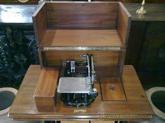 MAQUINA DE COSER WHEELER & WILSON (Antigüedades - Técnicas - Máquinas de Coser Antiguas - Wheeler Wilson )