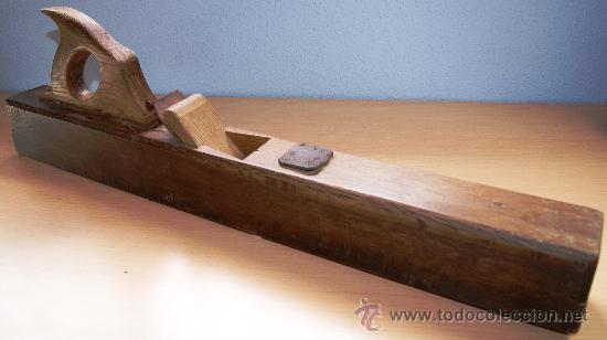 Antigüedades: GARLOPA O CEPILLO DE MADERA NOGAL, MÁS DE 100 AÑOS DE ANTIGUEDAD - Foto 4 - 25124902