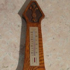 Antigüedades: ANTIGUO BAROMETRO TERMOMETRO, INGLES, FUNCIONA. MIDE 54.5 CM LARGO.. Lote 26618203