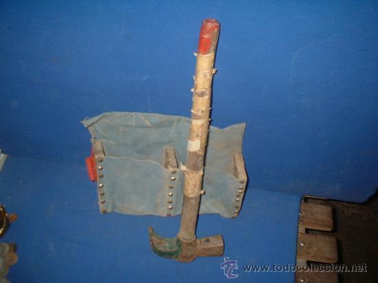 Antigüedades: martillo y bolsa de encofrador - Foto 2 - 26715145