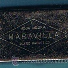 Antigüedades: CAJA METÁLICA PARA CONTENER 5 HOJAS DE AFEITAR. HOJA NEGRA MARAVILLA. ACERO MAGNÉTICO, SIN FECHA.. Lote 26952211