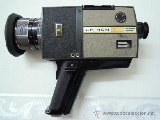 FILMADORA CHINON 600 SUPER 8 + ESTUCHE Y COMPLEMENTOS (Antigüedades - Técnicas - Aparatos de Cine Antiguo - Tomavistas Antiguos)
