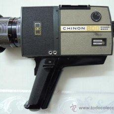 Antigüedades: FILMADORA CHINON 600 SUPER 8 + ESTUCHE Y COMPLEMENTOS. Lote 25571970